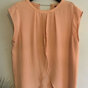 Peach Layered Polyester Top
